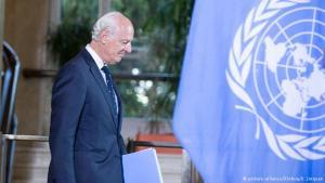El enviado de las Naciones Unidas para Siria, Staffan de Mistura.(Pie de foto e imagen desde portal www.dw.com)