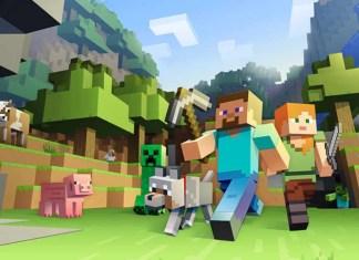 Personajes de Minecraft sosteniendo un pico