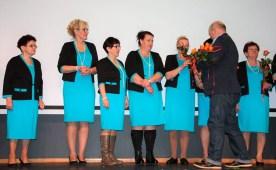 Jesienna suknia przyniosła zwycięstwo w konkurencji modowej członkiniom KGW Perlino (gmina Gniewino).