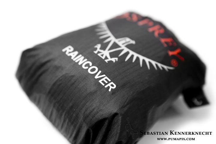 Osprey raincover - perfect for most rain situation. If its a storm, I place items in waterproof bags.