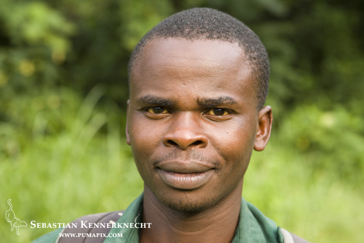 Anti-poaching snare removal team member, Godfrey Nyesiga, Kibale National Park, western Uganda