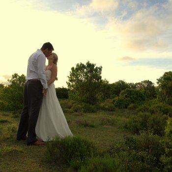 Pumba Private Game Reserve Weddings A Kiss Shared Under An African Sunset