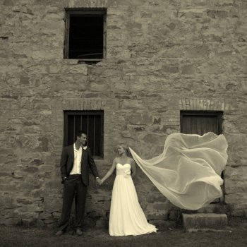 Pumba Private Game Reserve Weddings Black And White Nridal Veil Blowing In The Breeze