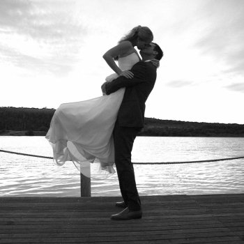 Pumba Private Game Reserve Weddings Black And White Wedding Kiss