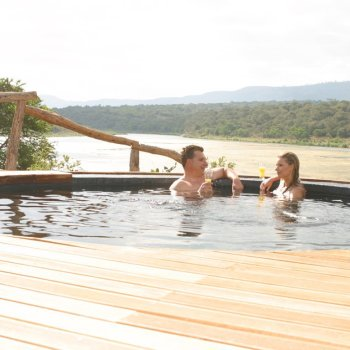 Pumba Private Game Reserve Weddings Couple Enjoying Their Private Plunge Pool