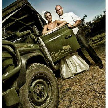 Pumba Private Game Reserve Weddings Wedding Couple On Safari