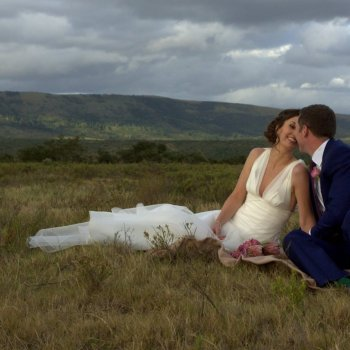 Pumba Private Game Reserve Weddings Wedding Couple Sitting In The Reserve