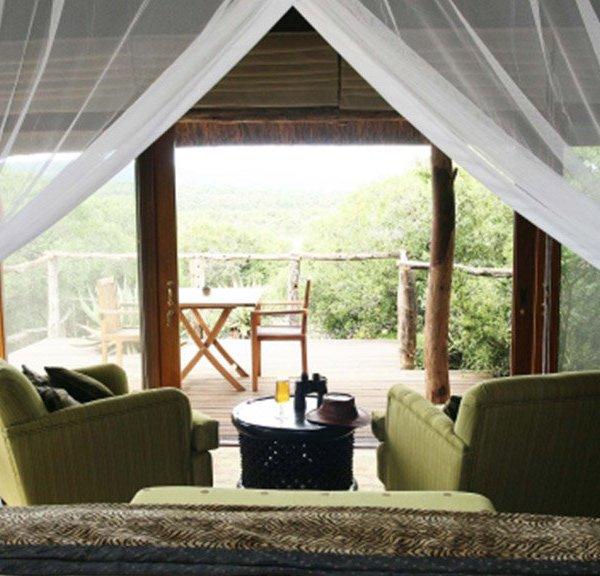 Pumba Msenge Bush Lodge  Chalet Private Deck