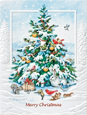 The Animals Tree Boxed Wildlife Christmas Greeting Cards