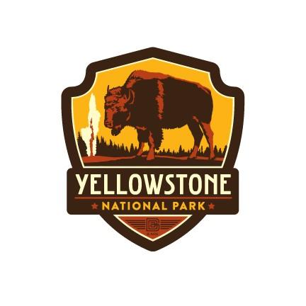 Yellowstone National Park Emblem Magnet Vinyl Magnet