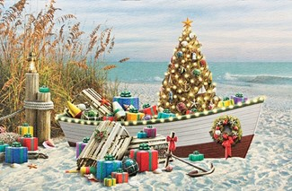 Nautical Noel Beach Themed Christmas Cards