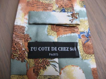 Vincent Van Gogh 100 percent silk tie from Paris at PumpjackPiddlewick