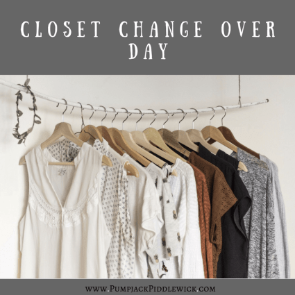 Closet Change Day Featured Blog Post at PumpjackPiddlewick