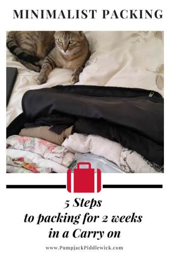 Minimalist Packing 5 steps to fitting into a carry on at PumpjackPiddlewick
