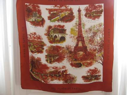 bridges of Paris scarf autumn colors at PumpjackPiddlewick