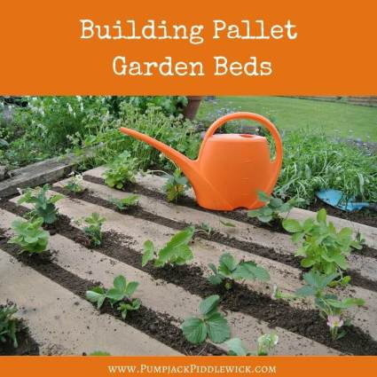 How to build garden raised beds out of pallets at PumpjackPiddlewick