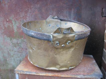 large brass and iron French cauldron from PumpjackPiddlewick