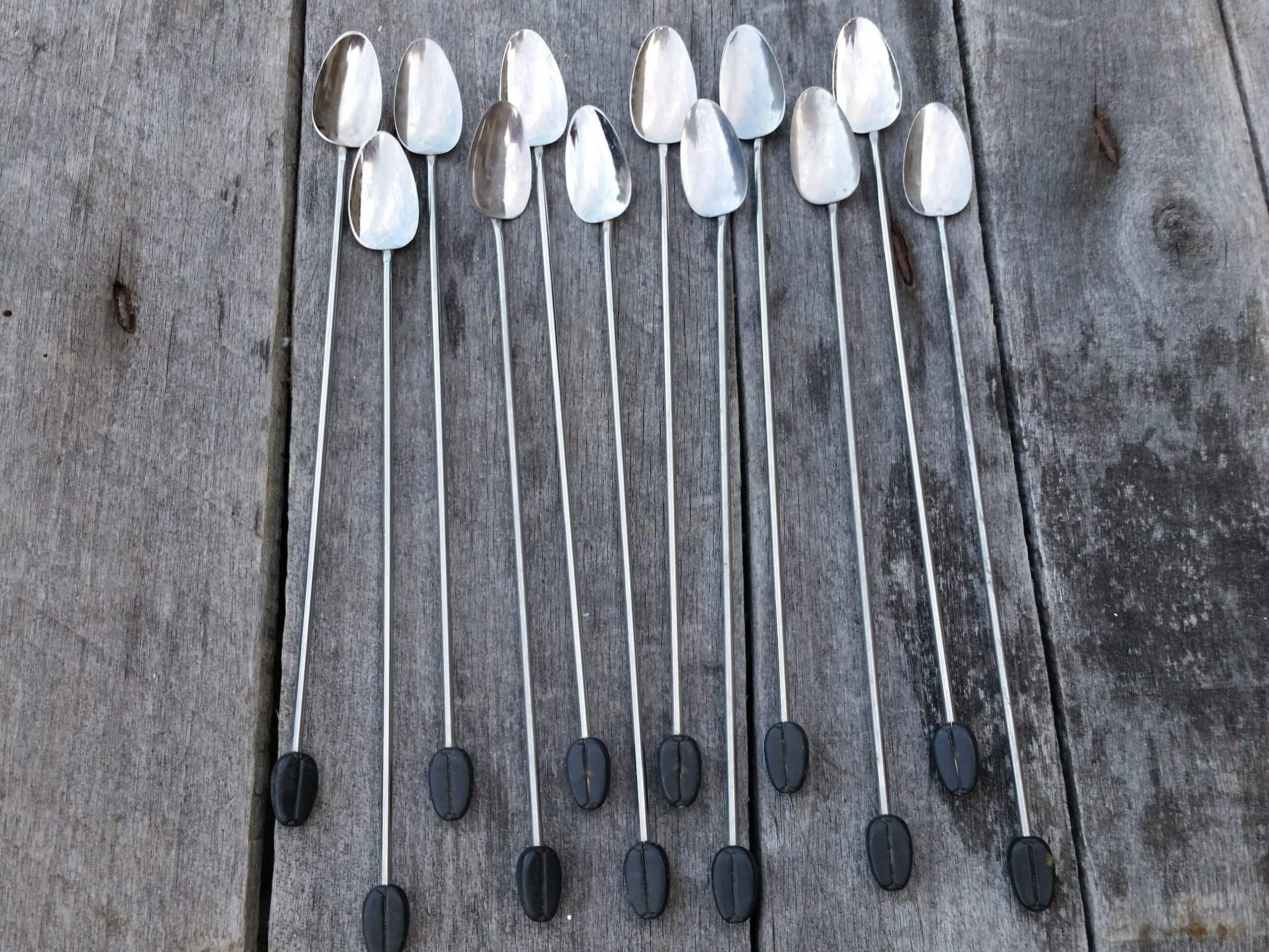 Long handled coffee bean spoons fromPumpjackPiddlewick