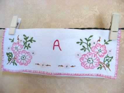 French linen napkin pockets at PumpjackPiddlewick