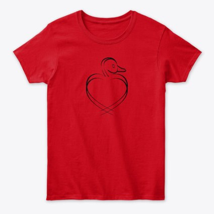 Valentines Day duck gifts at Pumpjack Piddlewick on Teespring