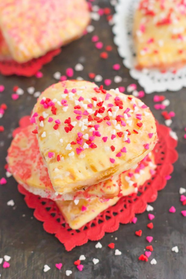 Mini Strawberry Heart Pies