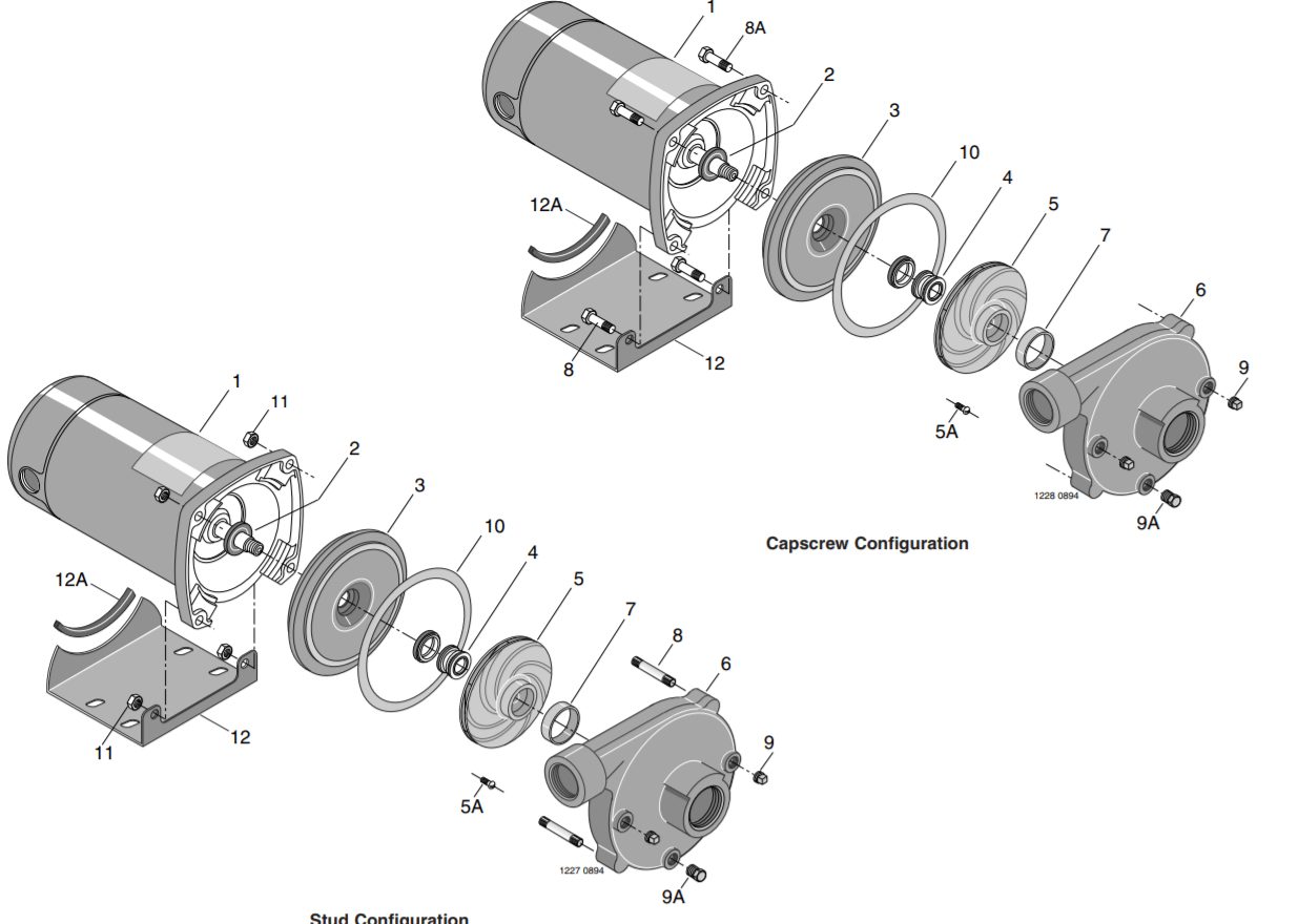 Berkeley Cb Pb Series Lawn Irrigation Pumps Parts Diagram