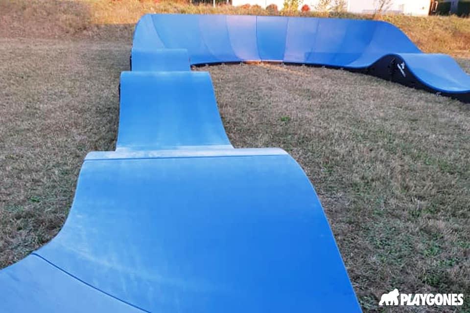 bieuzy pump track gazon - Réalisations pumptracks modulaires