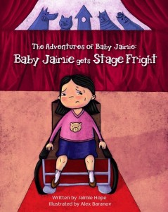 Baby Jaimie gets Stage Fright Book Tour
