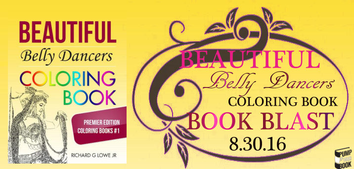 Beautiful Belly Dancers Coloring Book banner