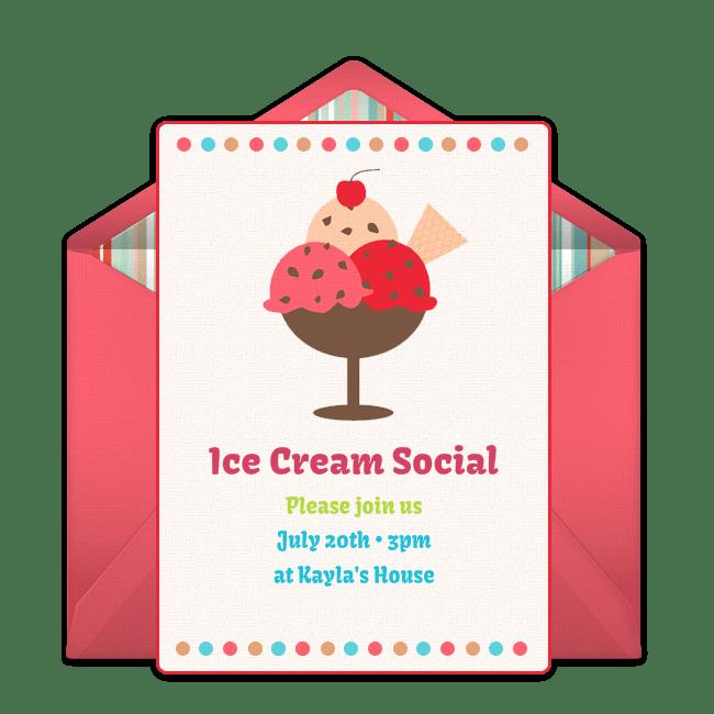 Free Ice Cream Social Online Invitation Punchbowl Com