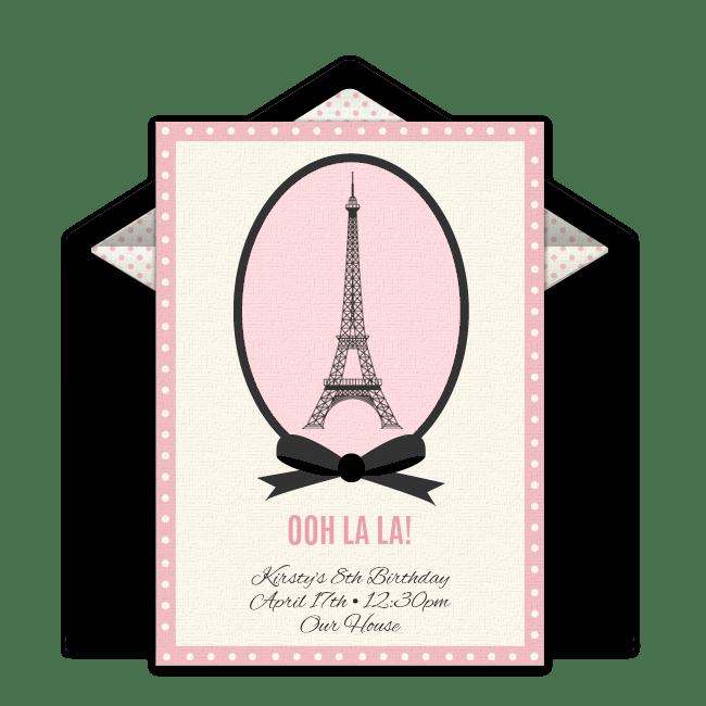 free paris online invitation