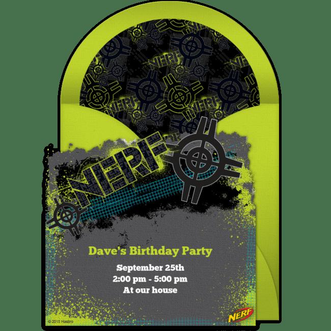 free nerf target online invitation