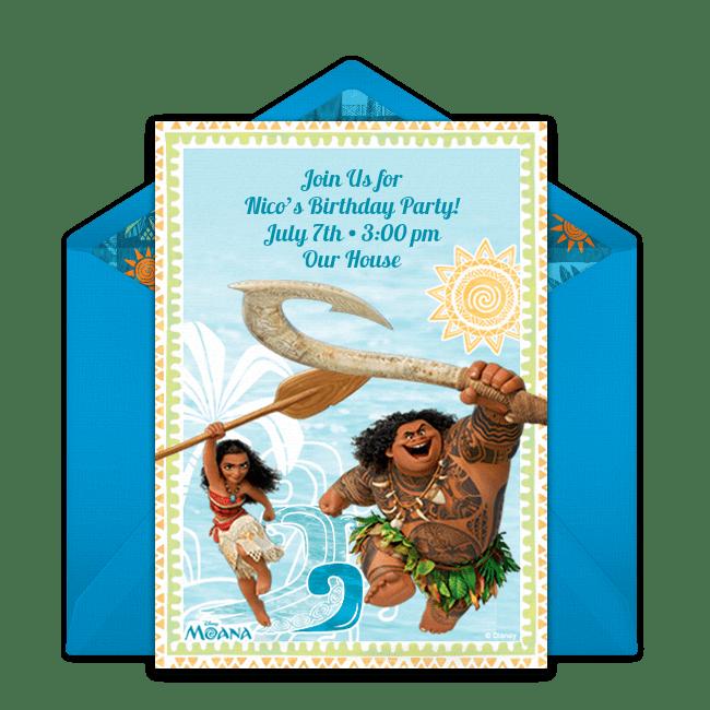 free moana maui online invitation