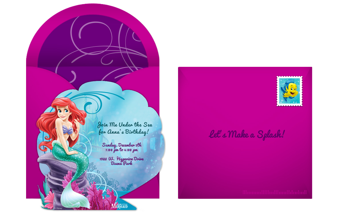 fanciful little mermaid birthday party
