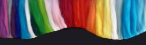 kleurige punch multicolor vilten