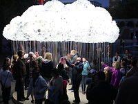 An Interactive Sculpture Made from 6k Light Bulbs