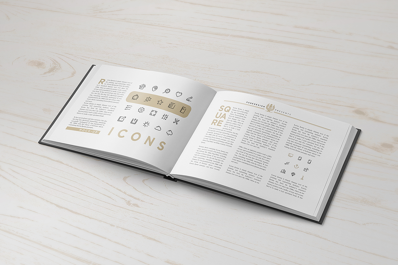 Landscape Book Mock Up PuneDesign
