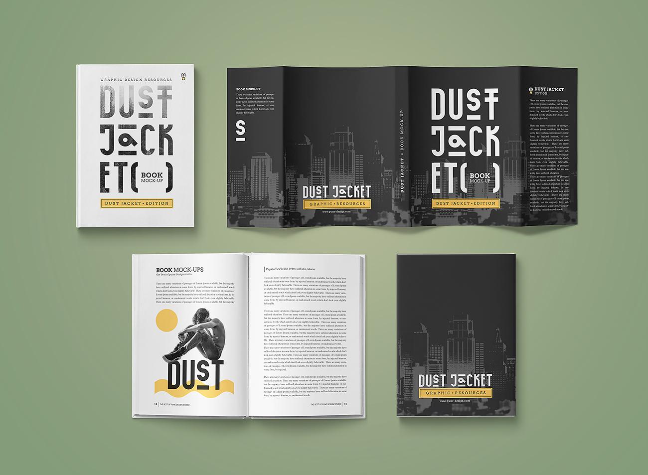 Book Mock Up Dust Jacket Edition Pune Design