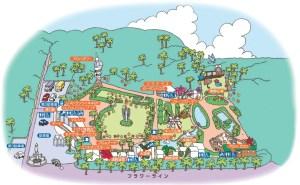 アロハガーデンたてやまの園内マップ