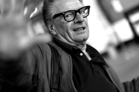 Hans Dulfer bij afscheidsfeest Huub Klompenhouwer