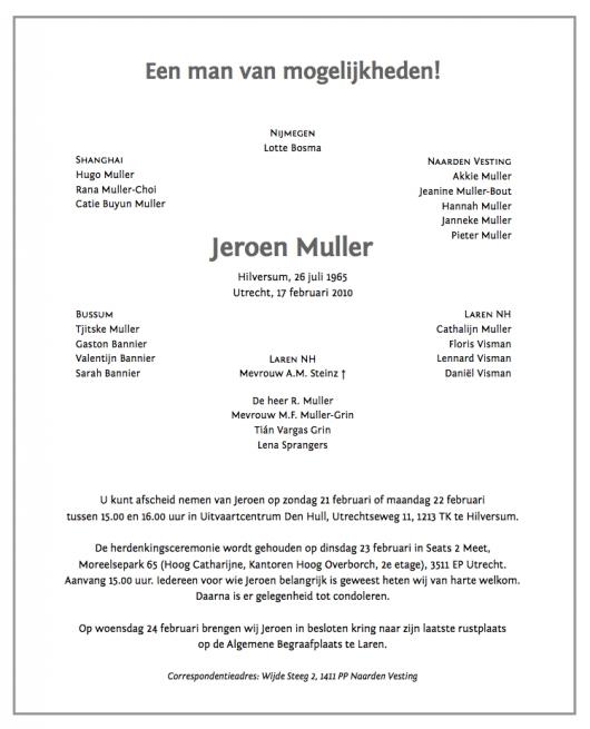 Jeroen Muller Een man van mogelijkheden