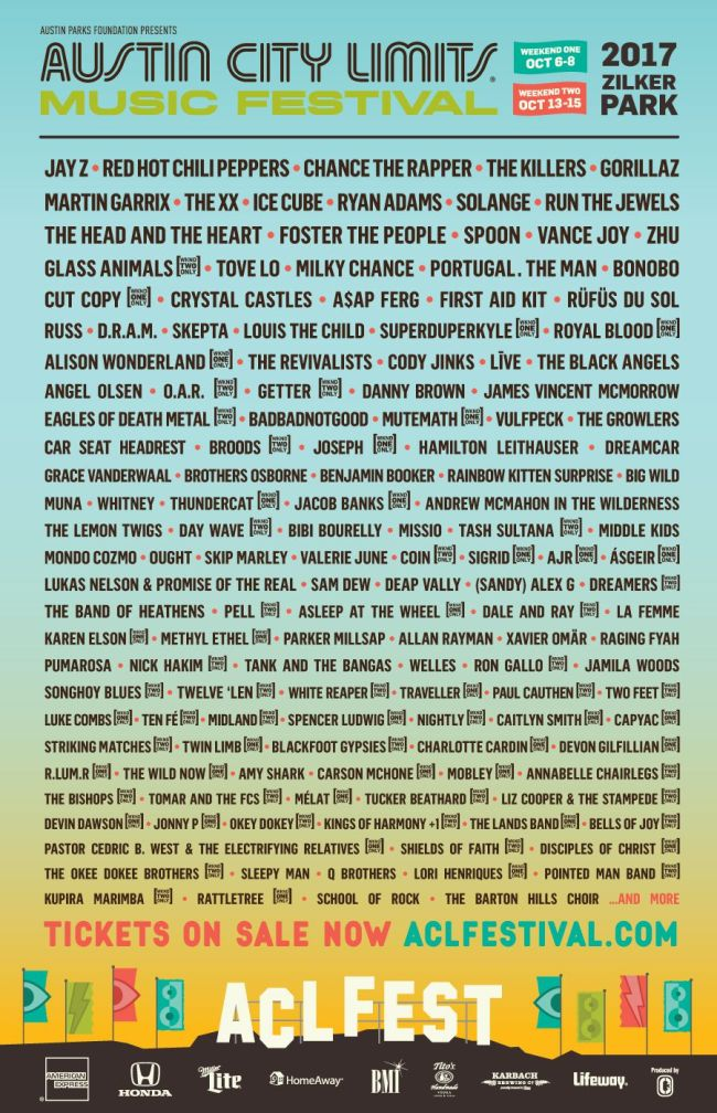 aclmf2017 website lineup poster The Identity Loss of Austin City Limits Music Festival