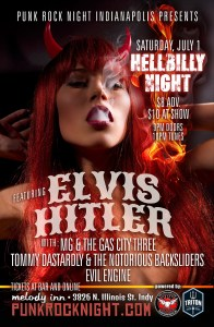 ELVIS HITLER, MG & The Gas City 3, Tommy Dastardly, Evil Engine @ The Melody Inn | Indianapolis | Indiana | United States