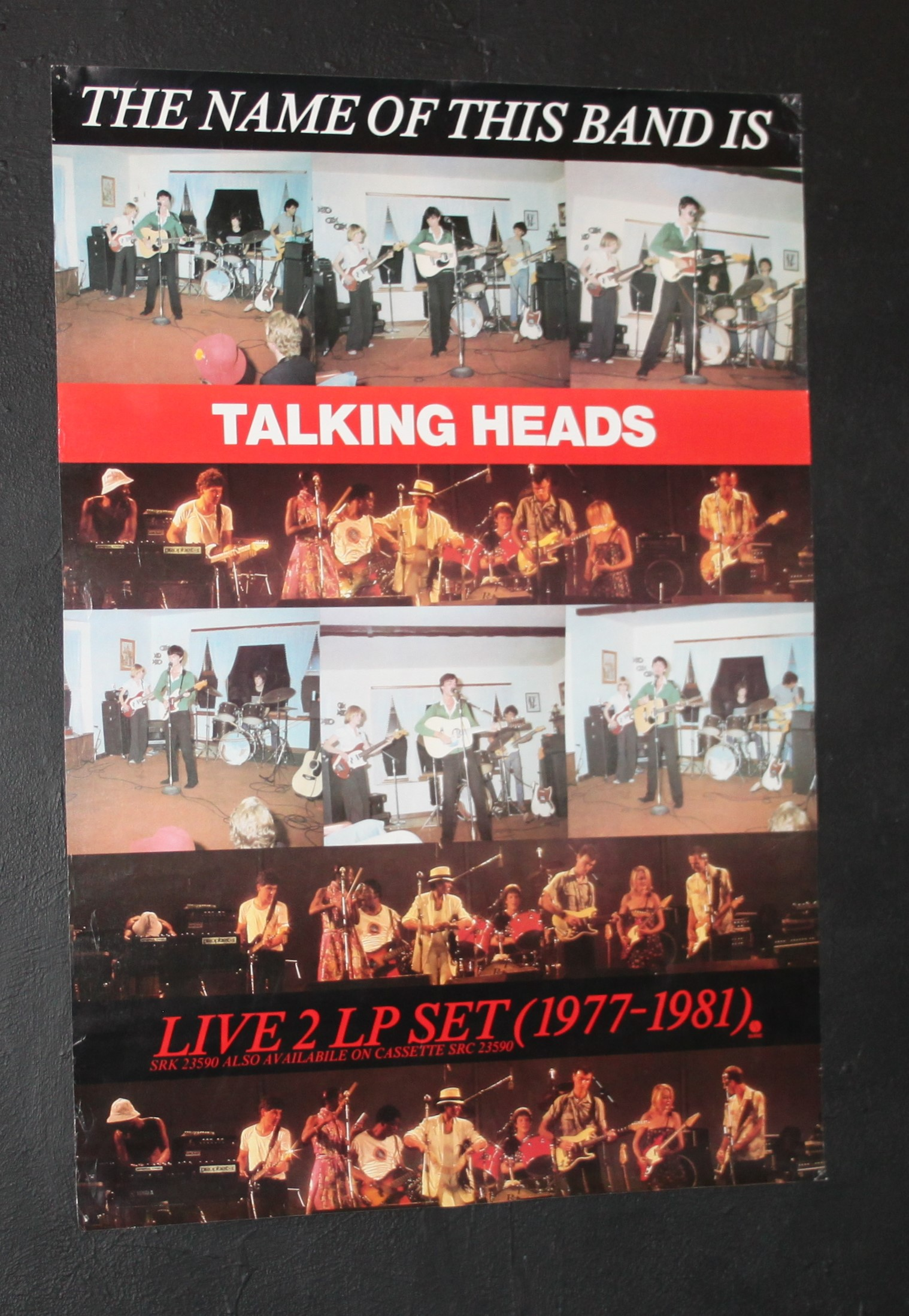 talking heads the name of this band is uk record shop poster 1982