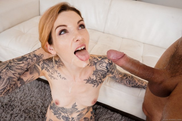 Penny Archer Anally Corrupted cum facial blowjob tattooed redhead small tits