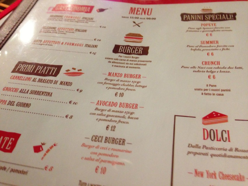 menu rosso eat drink stay viale aventino roma by puntarella rossa