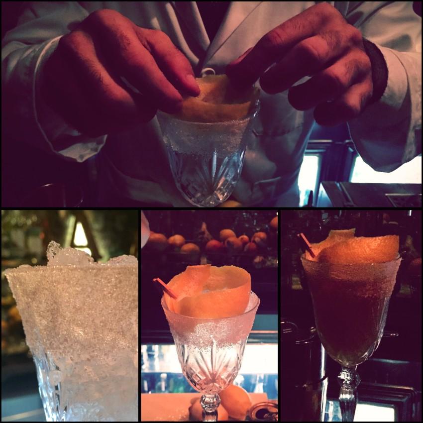 Brandy Crusta cocktail L'Antiquario Napoli