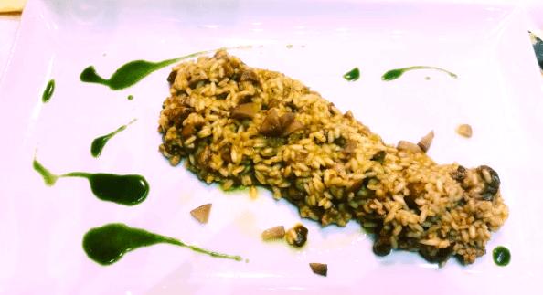 risotto funghi porcini e pera caperì Napoli