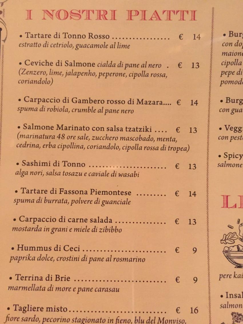 santo trastevere roma menu prezzi