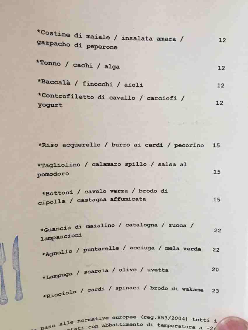 gaudenzio torino menu